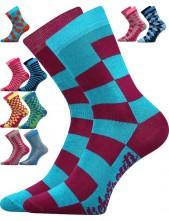 Dětské ponožky LICHOŽROUTI LI001K, káro - holka