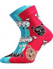 Ponožky Boma Xantipa 51 mix - balení 3 páry v barevném mixu