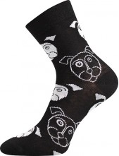 Ponožky Boma Xantipa 51 černá - balení 3 stejné páry