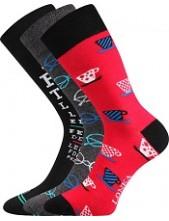 Ponožky Lonka WOODOO mix P - balení 3 páry v barevném mixu