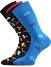 Ponožky Lonka WOODOO mix R - balení 3 páry v barevném mixu