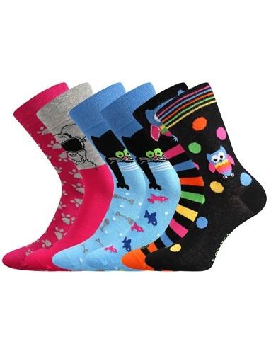 Dámské ponožky Lonka Doble mix B trendy párování každá ponožka je jiná 7f368ee59c
