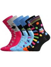 Dámské ponožky Lonka DOBLE mix B - balení 3 různé páry