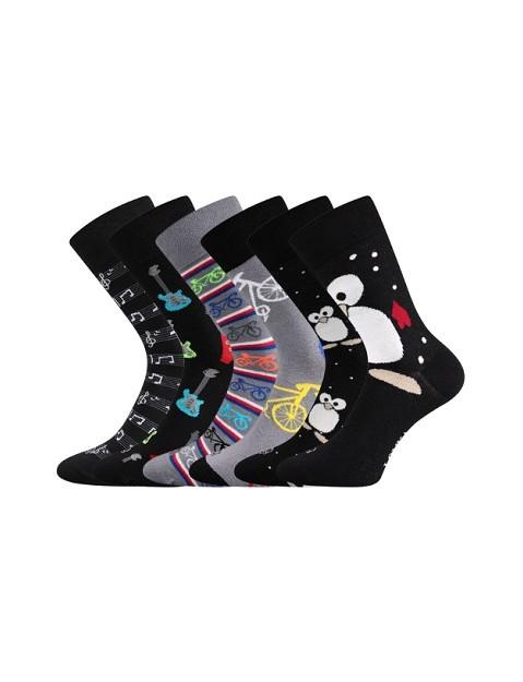 Pánské ponožky Lonka Doble mix C trendy párování každá ponožka je jiná 16546747ea