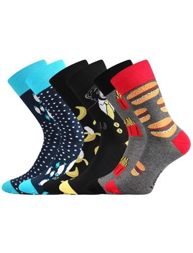 Pánské ponožky Lonka DOBLE mix D - balení 3 různé páry
