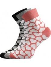 Ponožky Boma JANA Mix 47 - balení 3 páry v barevném mixu