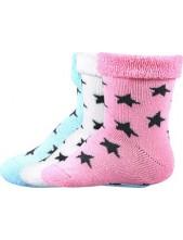 PIHU kojenecké ponožky Boma - balení 3 páry