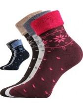 Dámské ponožky Lonka FROTANA - balení 3 páry v barevném mixu