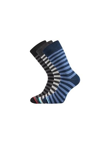 Ponožky Boma GONG 05 - balení 3 páry v barevném mixu