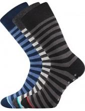 Ponožky Boma GONG ABS 05 - balení 3 páry v různých barvách