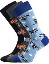 Ponožky Lonka DEPATE mix B - balení 3 páry v barevném mixu