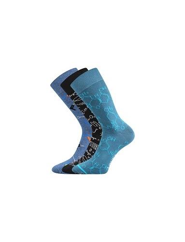 Ponožky Lonka WOODOO mix O - balení 3 páry v barevném mixu