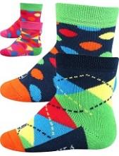 WOODINEK kojenecké ponožky Lonka - balení 2 páry v barevném mixu