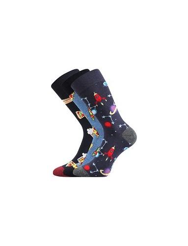 Ponožky Lonka DEPATE mix C - balení 3 páry v barevném mixu