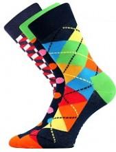 Ponožky Lonka WOODOO mix A, puntíky