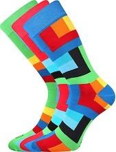 Pánské veselé barevné ponožky Lonka WEAREL 013, zelená
