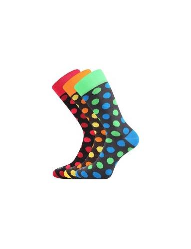 Pánské veselé barevné ponožky Lonka WEAREL 019 - balení 3 páry