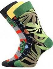 Pánské barevné veselé ponožky Lonka DEPATE mix E, - balení 3 páry v barevném mixu