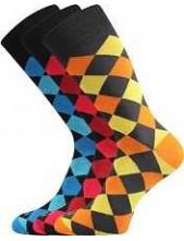 Pánské veselé barevné ponožky Lonka WEAREL 018 - balení 3 páry