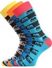 Pánské veselé barevné ponožky Lonka WEAREL 020 - balení 3 páry