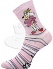 Ponožky Boma - CT 001 (Čtyřlístek) Mix A fialová