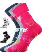 Dámské barevné ponožky Boma Xantipa Mix 45, balení 3 páry