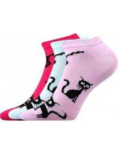 Ponožky Boma Piki dámské Mix 33 mix A, kočky