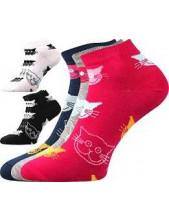 Dámské ponožky Boma Piki 52 kočky na magenta
