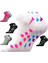 Ponožky VoXX - Rex 07 Mix A, bílá s tyrkysovým vzorem