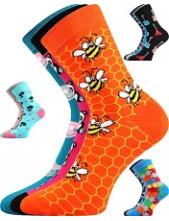 Dětské ponožky Boma 057-21-43 VIII - balení 3 různé páry v barevném mixu