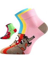 Ponožky Boma JITULKA - balení 3 páry v barevném mixu