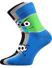 Dětské ponožky Boma TLAMIK - balení 3 různé páry v barevném mixu