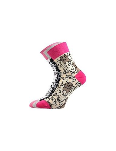 Ponožky Boma Xantipa 52 - balení 3 páry v barevném mixu