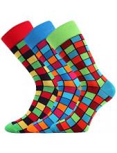 Pánské veselé barevné ponožky Lonka WEAREL 021 - balení 3 páry