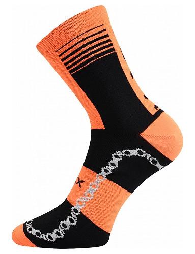 Cyklistické ponožky VoXX RALFI, neon oranžová