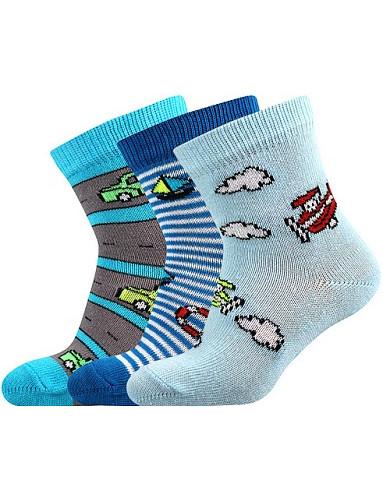 Kojenecké ponožky Boma FILÍPEK ABS, mix A kluk