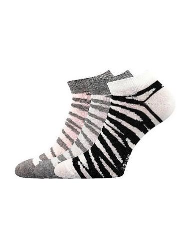 Dámské ponožky Boma Piki 57 - balení 3 různé páry