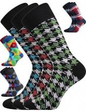 DIKARUS společenské ponožky Lonka. balení 3 páry v barevném mixu