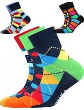 Dětské ponožky Lonka WOODIK mix A, káro