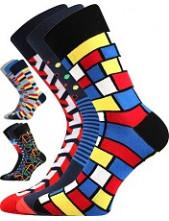Pánské barevné veselé ponožky DIMAGE, mix D