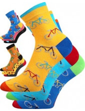 Dámské, pánské ponožky Lonka WEELS - balení 3 páry v barevném mixu