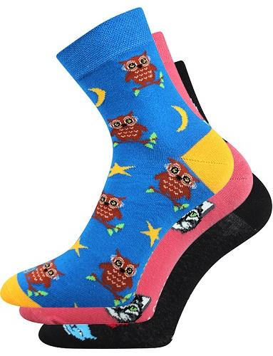 Dámské, pánské ponožky Lonka WEELS, mix C