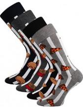 Pánské ponožky Lonka DEFOOD - balení 4 páry v barevném mixu