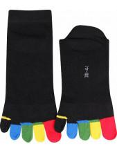 Prstové ponožky Prstan-a 05 barevné prsty, nízké