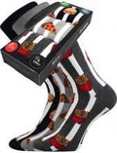 Pánské ponožky Lonka DEFOOD BOX - balení 3 různé páry v krabičce