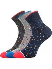 Ponožky Boma JANA 48 - balení 3 páry v barevném mixu