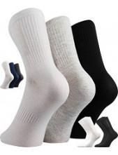 Ponožky VoXX BADDY C mixy, mix A, bílá, světle šedá, černá