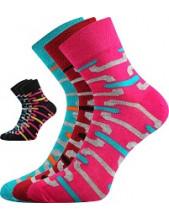Ponožky Boma JANA 49 - balení 3 páry v barevném mixu