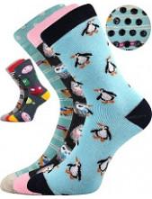 Dětské ponožky Boma SIBIŘ dětská 06 ABS protiskluzové - balení 3 páry v barevném mixu