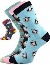 Dětské ponožky Boma SIBIŘ dětská 06 - balení 3 páry v barevném mixu